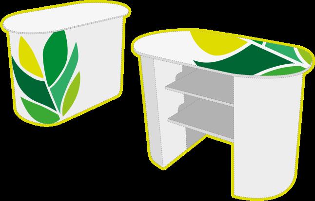 Mostrador muebles de cartón ecologicos PCG Barcelona